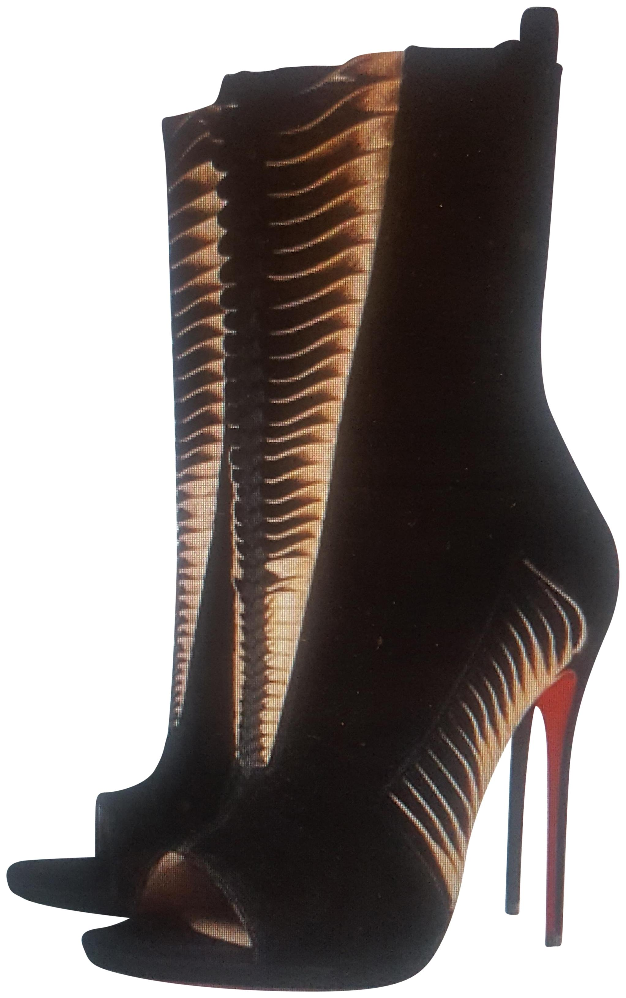 bed10c40be4 Christian Louboutin Black Miss Circus 120 Suede Heel Boots Boots Boots Pumps  Size EU 40 (Approx. US 10) Regular (M