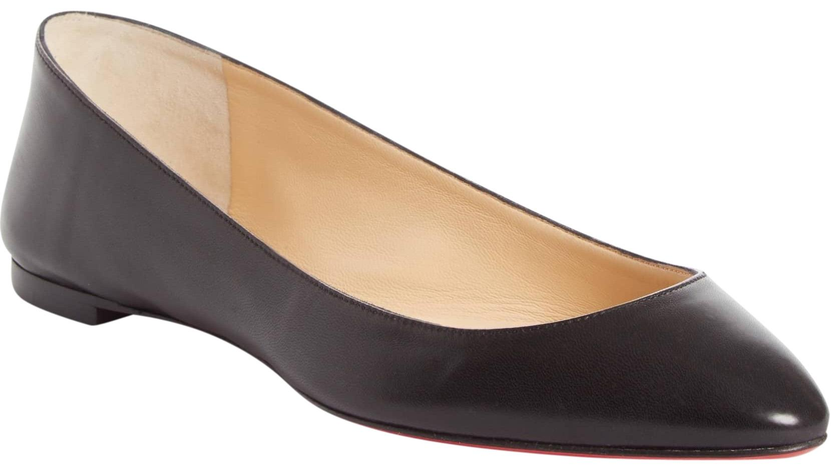 Christian Louboutin Black New Eloise Nappa Leather 35 Flats Size US 5 Regular (M, B)