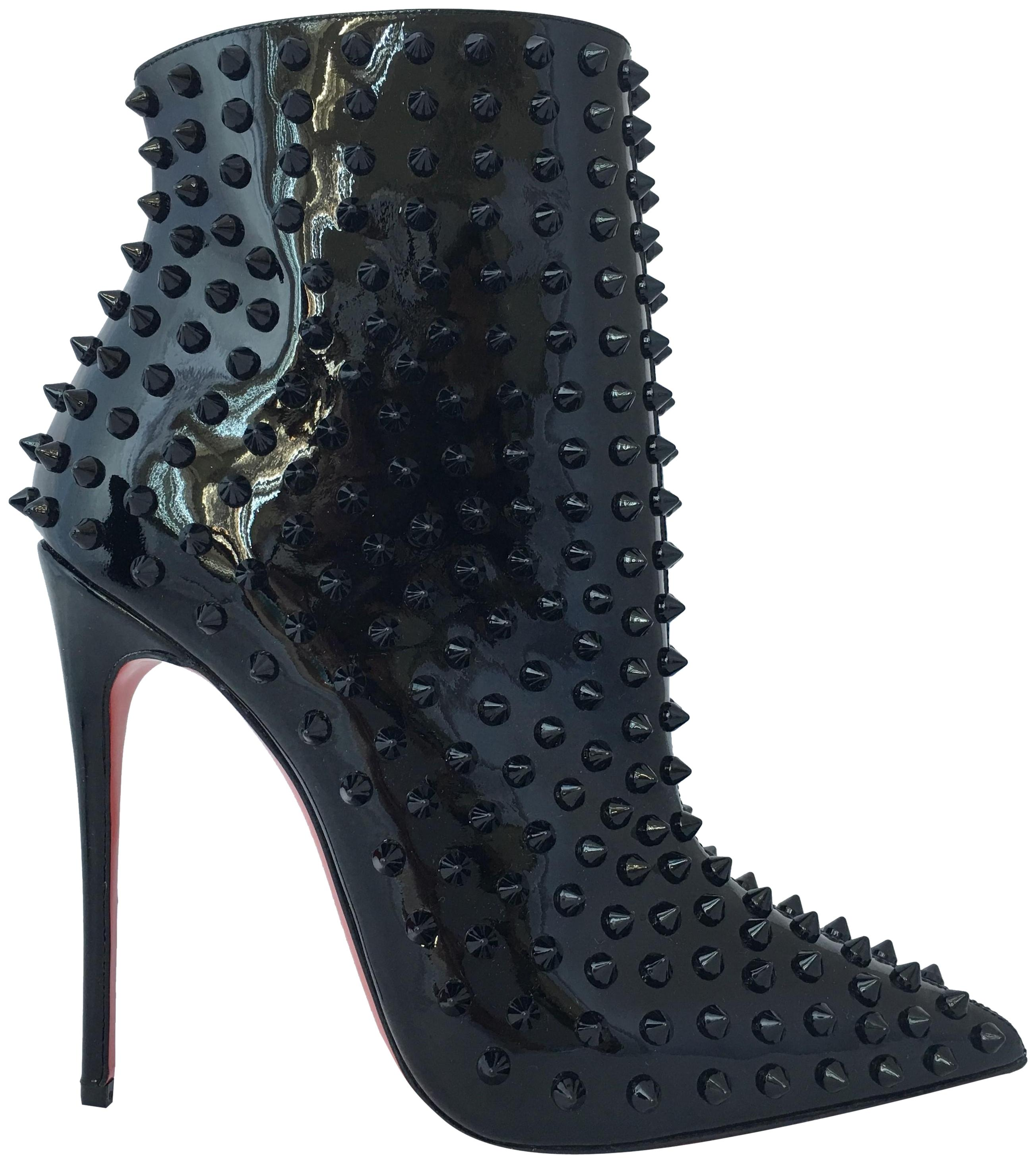 a35734906cdd ... best price christian louboutin high heels ankle snakilta red sole black  boots 3bf29 a5775