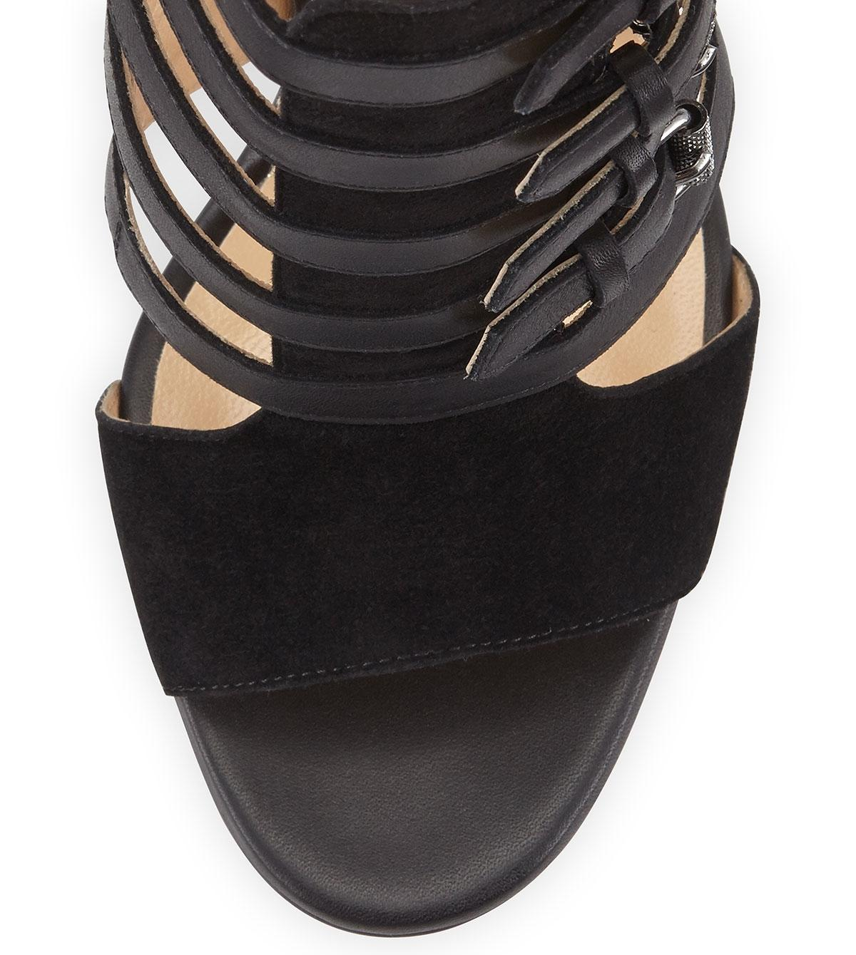0a96e93e954c ... Christian Louboutin Black New Trotti 100 Leather Open 37 37 37  Boots Booties Size US