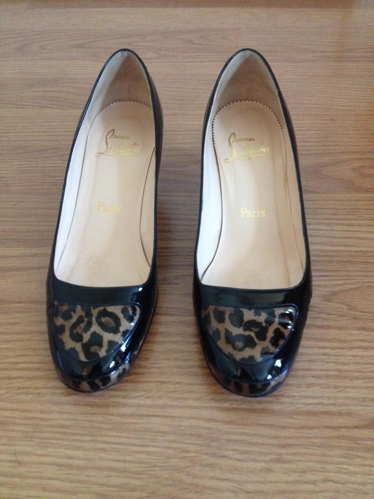 Christian Louboutin Black Patent and Leopard Patent No Pumps Size US 8 Regular (M, B)
