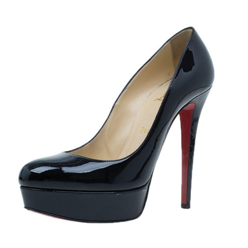 f8d2c29faa53 Christian Louboutin Black Patent Bianca Pumps Platforms Size EU 38.5 38.5  38.5 (Approx. US 8.5) Regular (M