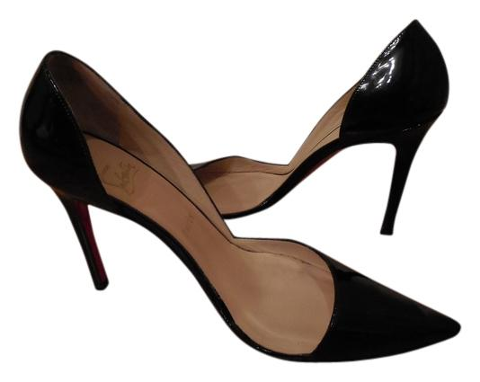 christian louboutin cuir vernis noir helmut sexy sexy sexy d & # ; orsay pompes taille nous bea149