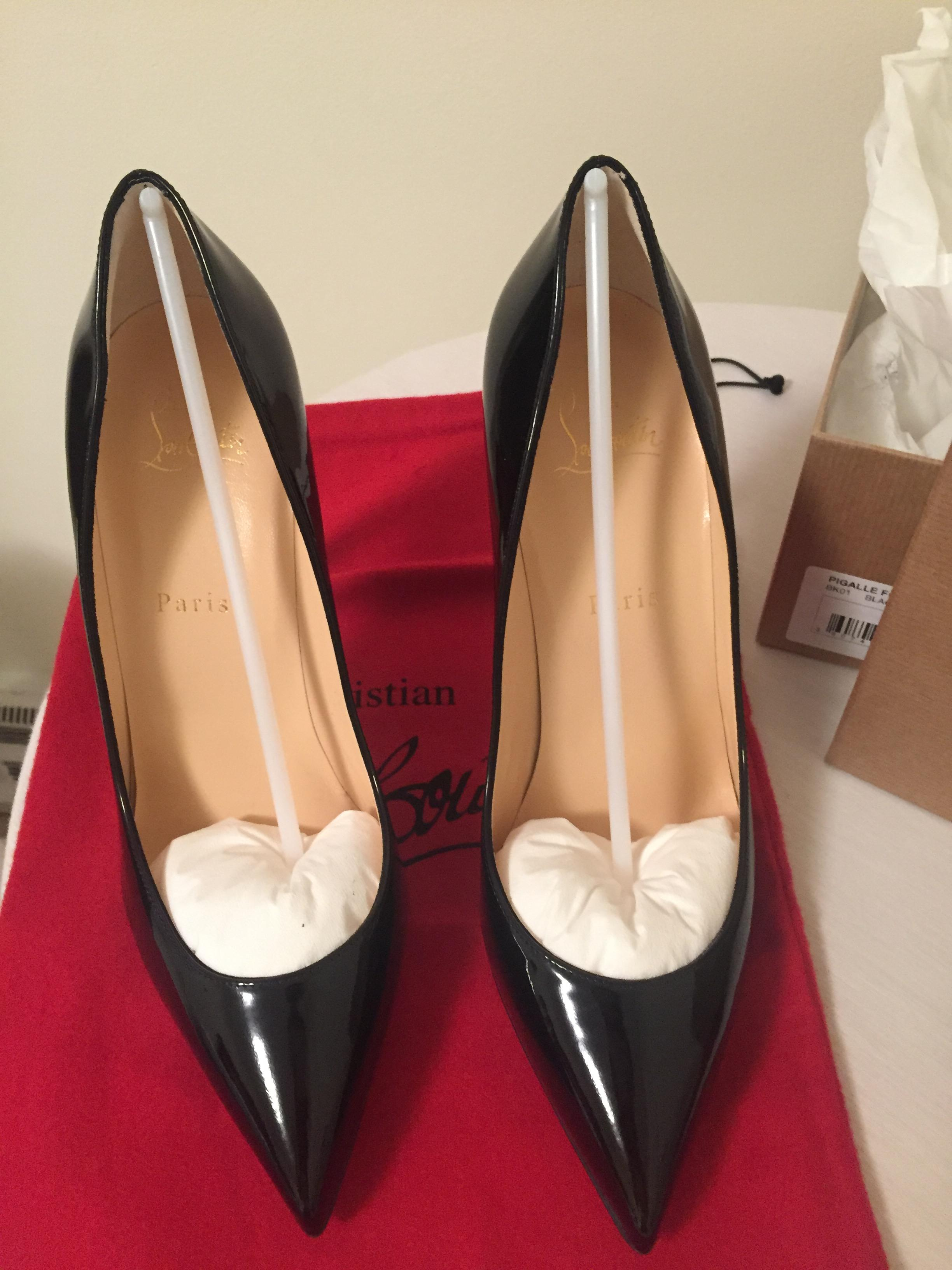 9d181935a2 Christian Louboutin Black Patent Pigalle Follies Leather 100mm Pumps Size EU  34 (Approx. US 4) Regular (M, B) - Tradesy