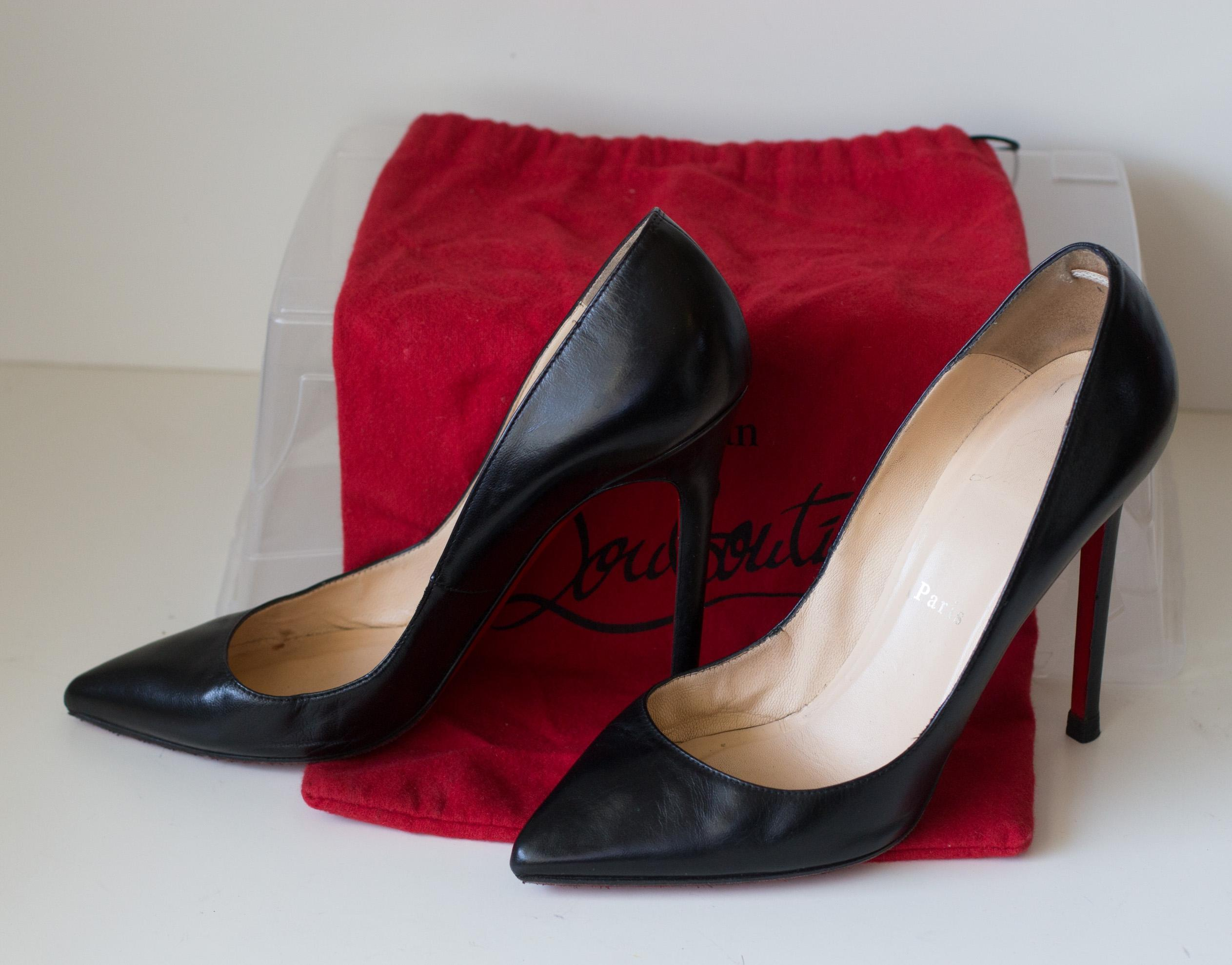 55fc782a5497 Christian Louboutin Black Pigalle 120 Leather Leather Leather 8 Pumps Size  EU 38.5 (Approx.