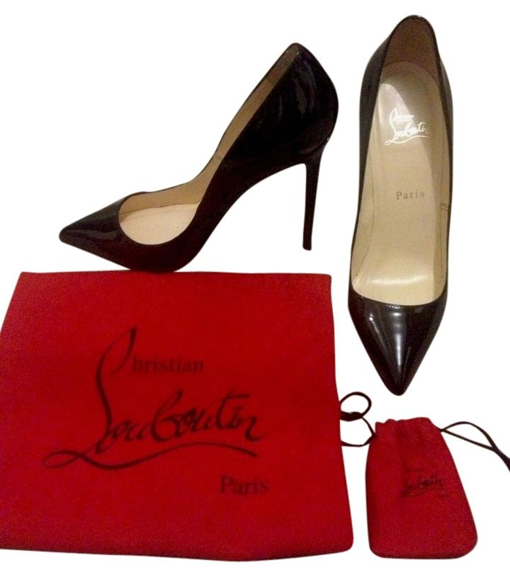 Christian Louboutin Black Pigalle 120 Patent Leather 37.5 Final Markdown Now Pumps Size US 7.5 Regular (M, B)