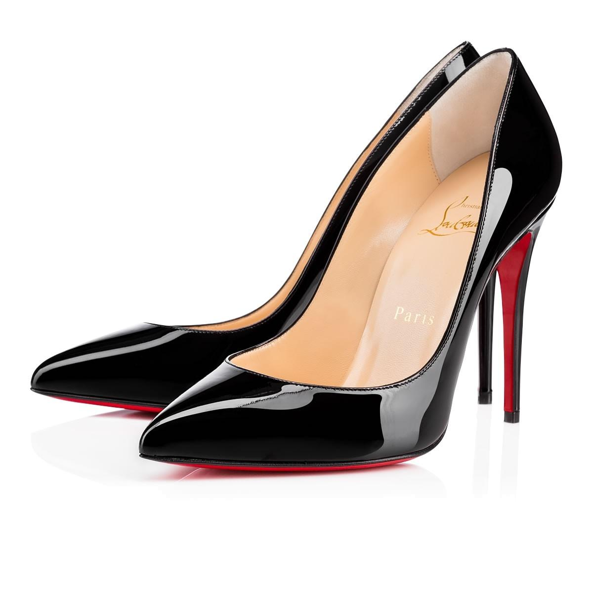 Christian Louboutin Black Pigalle Follies 100 Patent Leather Classic Stiletto Pointed Heel Pumps Size EU 35.5 (Approx. US 5.5) Regular (M, B)