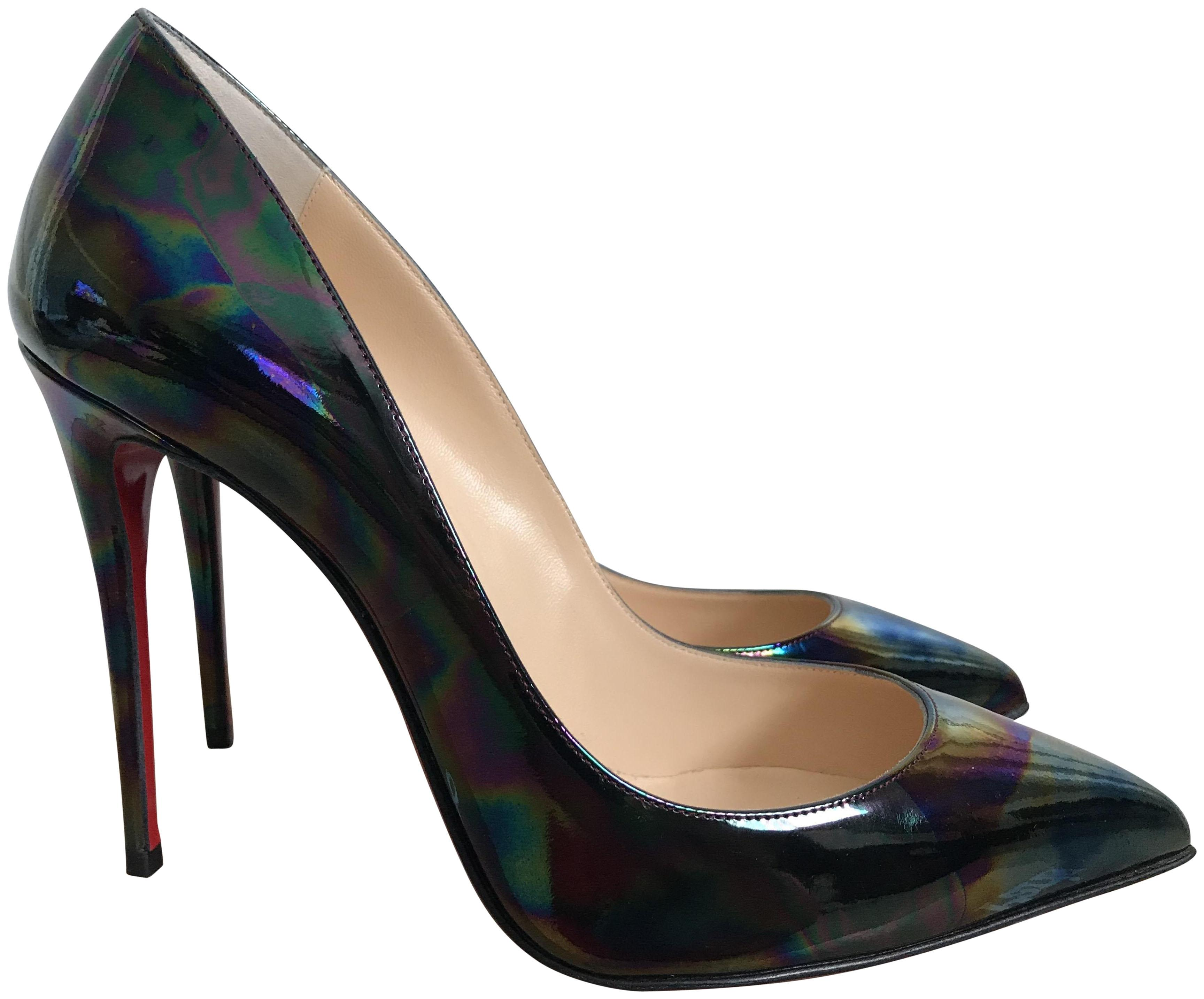 935b7f5b910 Christian Louboutin Black Pigalle Follies Oil Oil Oil Spill Pointed ...