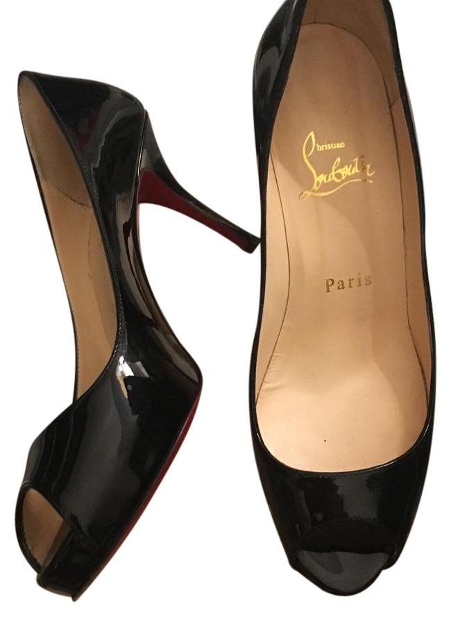outlet store 0d7bd b5626 30%OFF Christian Louboutin Mater Claude 85 Patent Calf Black ...