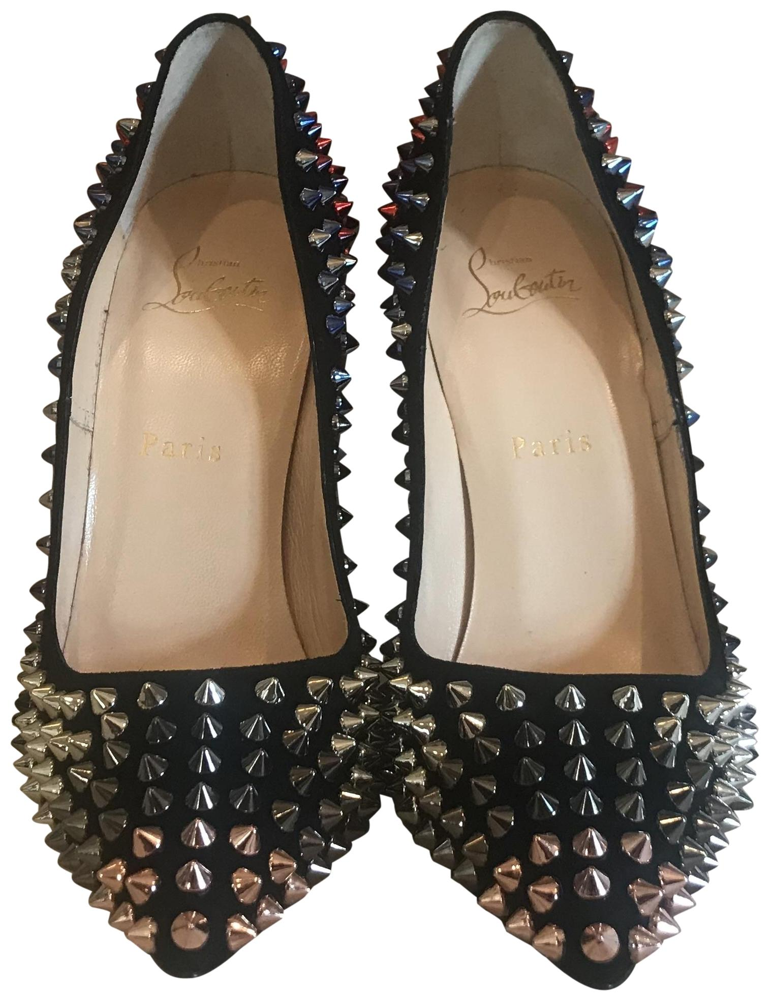 0413d7606650 ebay shoe envy christian louboutin 2013 spring roller boat flat white 5596d  6a67c  where to buy christian louboutin so kate suede spikes stiletto  scarabee ...