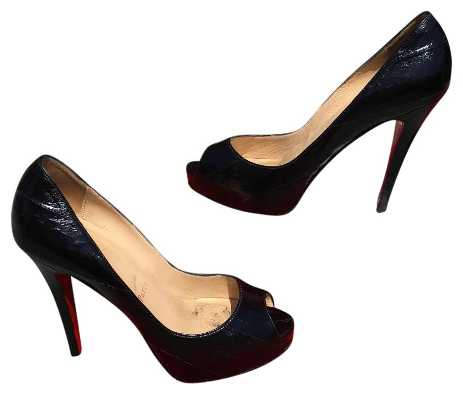 Christian Louboutin Very Prive Eel skin Pumps