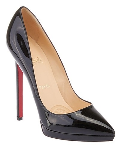 Christian Louboutin Black Women's Patent Leather Pigalle Plato 39 (26651) Pumps Size US 9