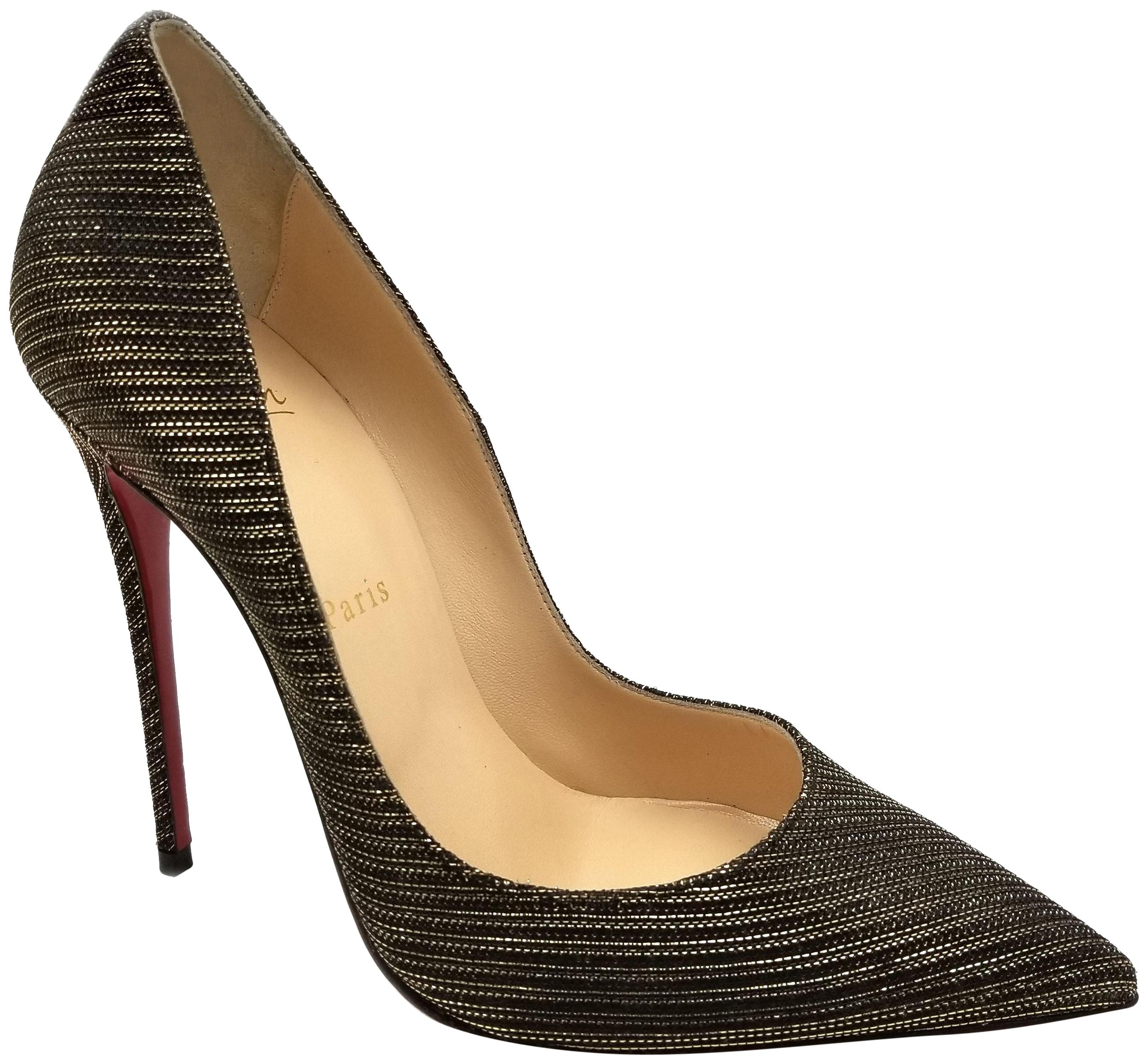 1de3c86ab25 Christian Louboutin Black/Gold So Kate Glitter Chain 120mm Red Red ...