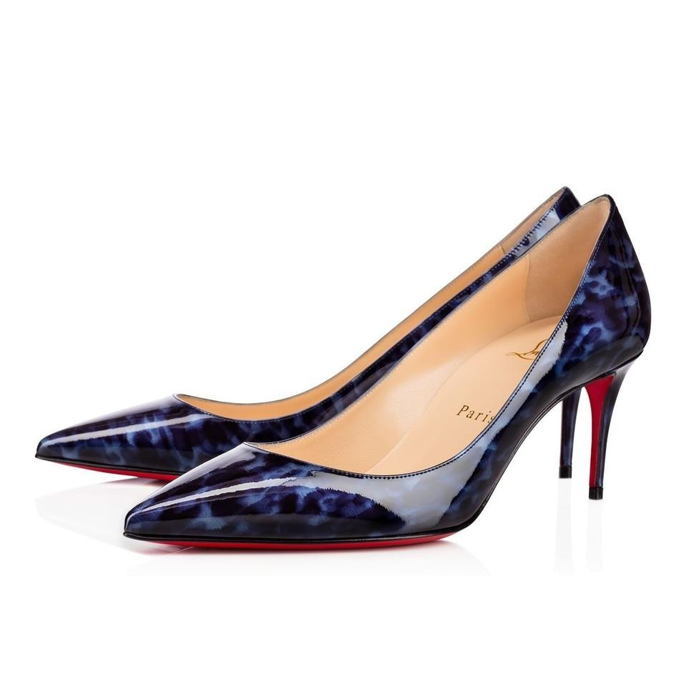 58eb62695cb2 germany christian louboutin decollete pigalle stiletto patent kitten blue  pumps 82838 c6cf9