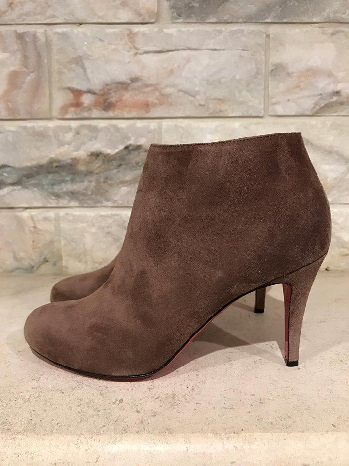 7a221e9b2477 ... Christian Louboutin Brown Belle 85 Chatain Suede Zipper Heel 37 37 37  Boots Booties Size ...