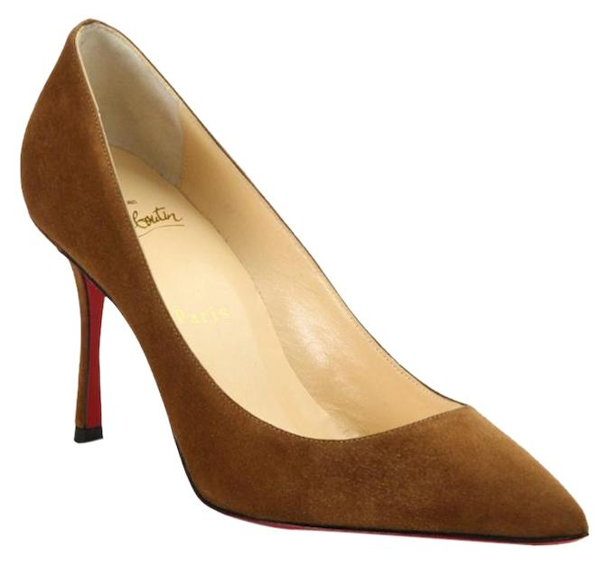 73686cf4d4c Christian Christian Christian Louboutin Brown Decoltish 85 Indiana Suede  Pointed Heel Pumps Size EU 40 (Approx. US 10) Regular (M