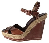 Christian Louboutin Brown Espadrille Sandals
