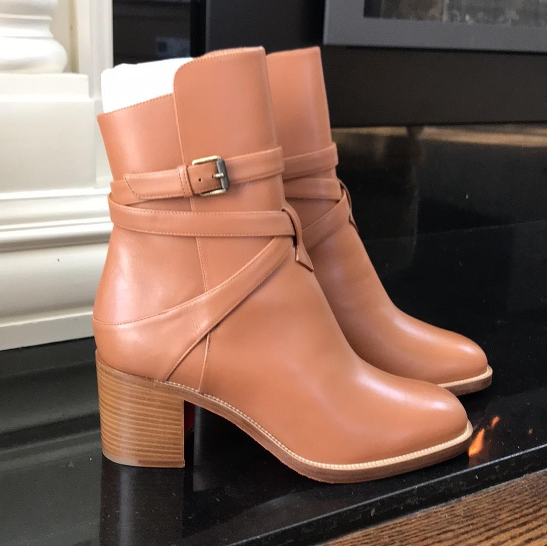 60f164653eb6 ... Christian Louboutin Brown Karistrap Cuoio Cognac Leather Boots Booties  Size Size Size EU 38.5 ...