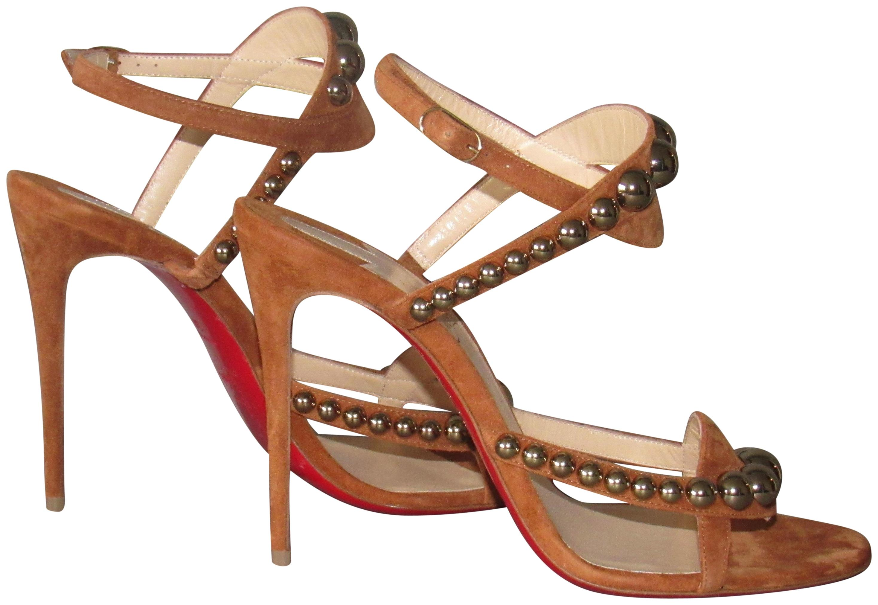 lowest price d89d8 643f0 Christian Louboutin Carmel Brown/Cannelle New Galeria 100 ...