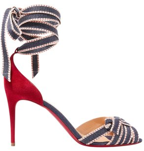 Christian Louboutin Christeriva 85mm Sandals Red, Blue Pumps