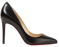 Christian Louboutin Classic Pigalle 100mm Leather Black Pumps