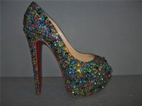 Christian Louboutin Highness Strass 160 Multi Crystal Heels Multi-Color Pumps