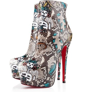 Christian Louboutin Daf Python Multi-Colored Boots