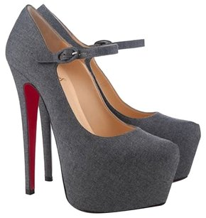 Christian Louboutin Daffodile Gray Pumps