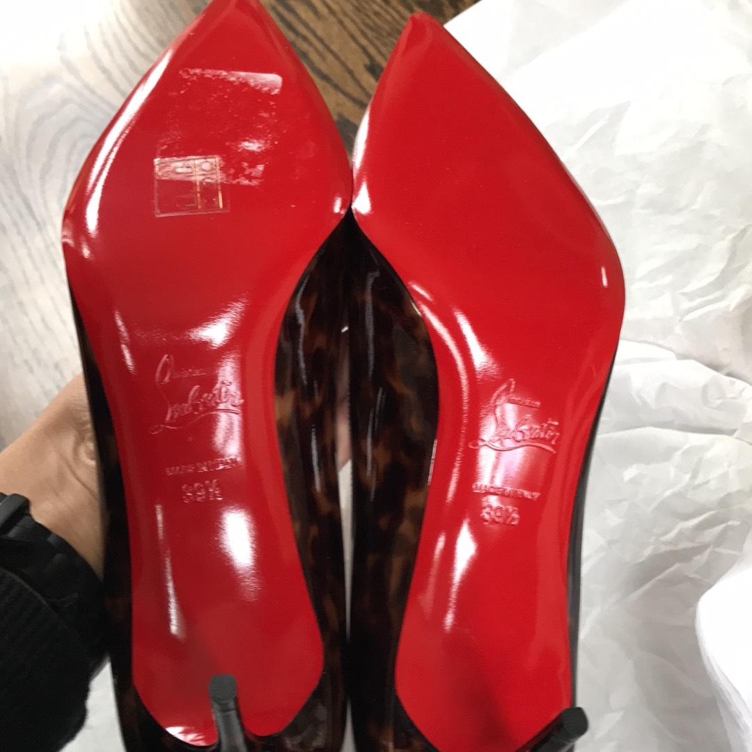 fce25c686c00 ... Christian Louboutin Décolleté Tartaruga Black Brown 70mm Patent Patent  Patent Stiletto 39.5 Pumps Size US 9.5 ...
