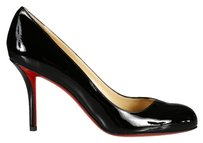 Christian Louboutin Dorissima Red Bottoms Leather Black Pumps