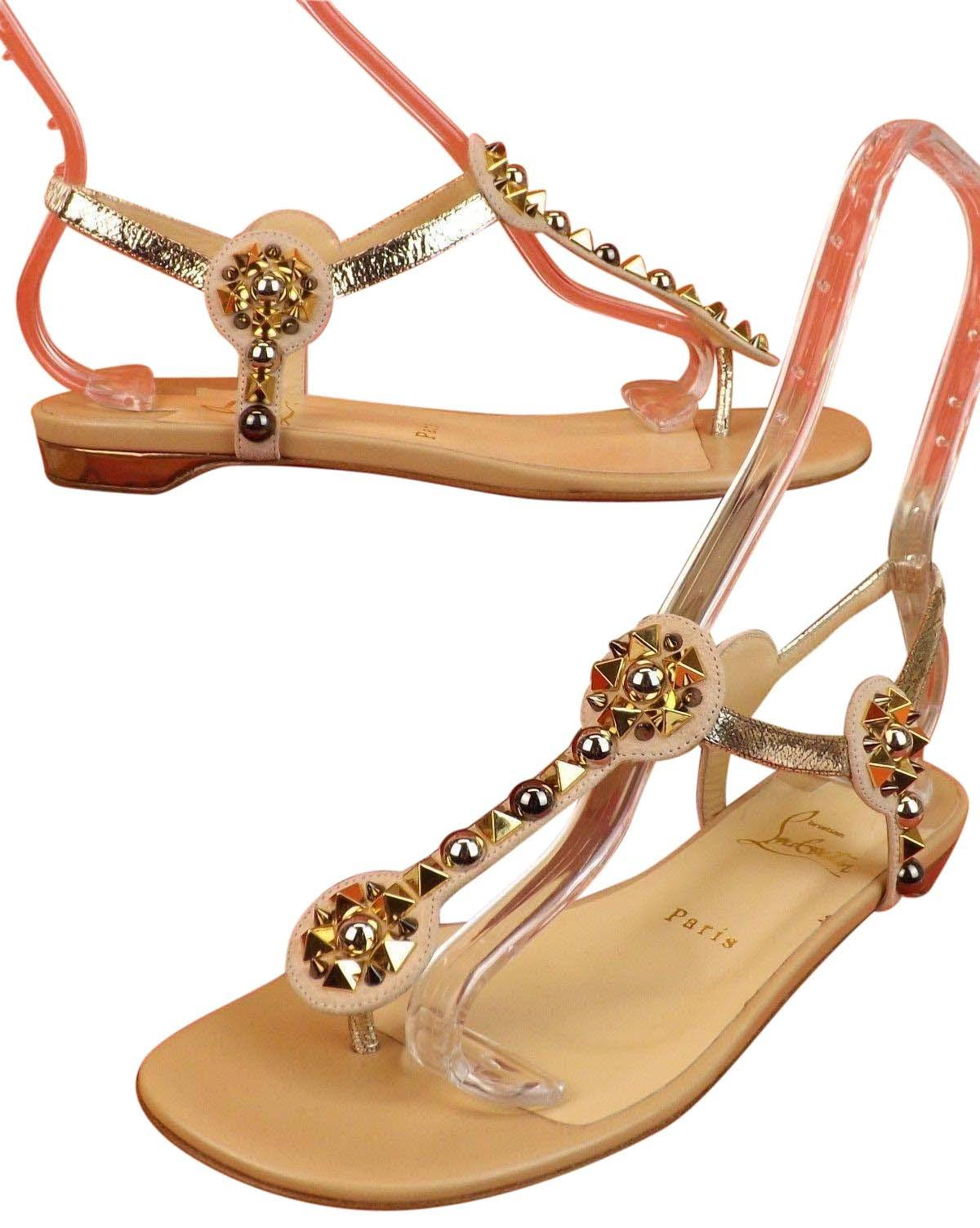 4a2aa4c3103 where can i buy christian louboutin gwinee glittered leather sandals ...