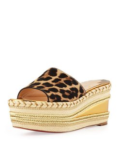 Christian Louboutin Espadrilles Red Bottom Wedges