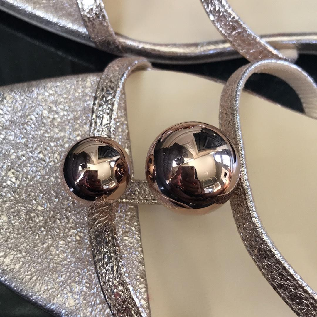 09bfcd93f301 ... Christian Louboutin Gold Atonetta Bubble Rose Vintage Vintage Vintage Sandals  Flats Size EU 36.5 (Approx ...