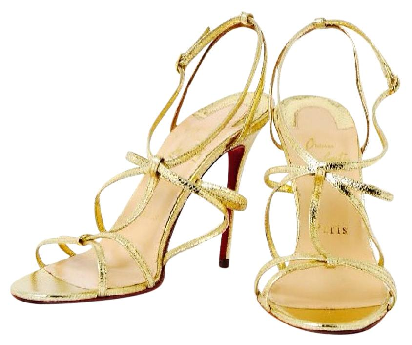 1f0d27c6d9e get christian louboutin gold strappy sandals 1e945 33f06