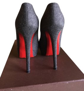 Christian Louboutin High Heels Platform Sexy Grey Wool Platforms