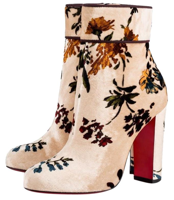 louboutin boots Beige