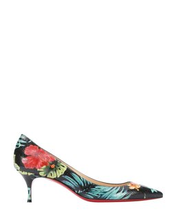 Christian Louboutin Hawaiian Leather Pigalle Follies Heels Black Pumps