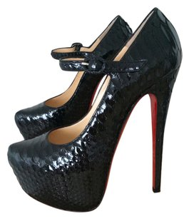Christian Louboutin Lady Daff Python Black Pumps