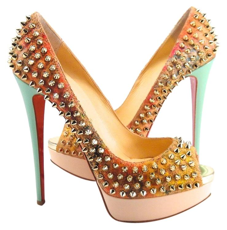 Added to Shopping Bag. Christian Louboutin Lady Peep Cork Pink Heels 40 ...