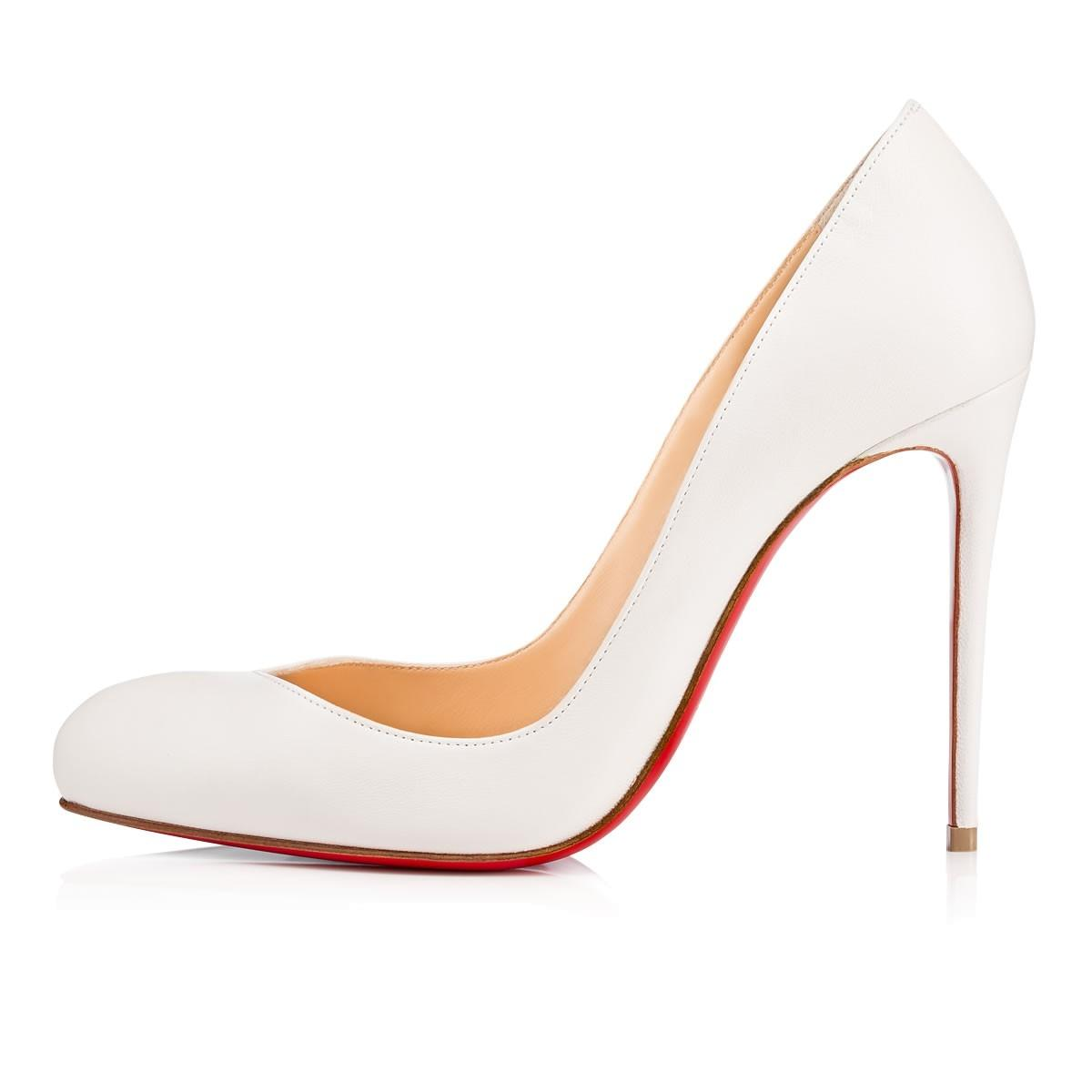 Christian Louboutin Latte (White) Breche 100 Leather Heels Pumps Size EU 41 (Approx. US 11) Regular (M, B)