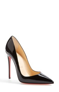 Christian Louboutin Leather Suede black Pumps