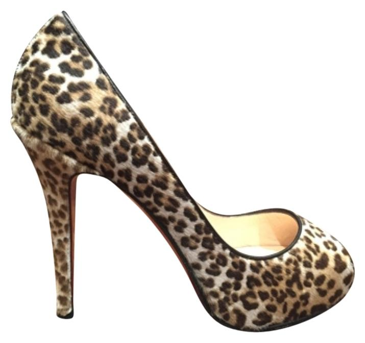 Christian Louboutin Leopard Very Prive Pumps Size US 7.5 Regular (M, B)