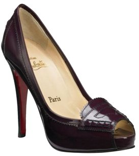 Christian Louboutin Loubs Red Bottoms Kardashian Maroon Peniche Stiletto Pumps
