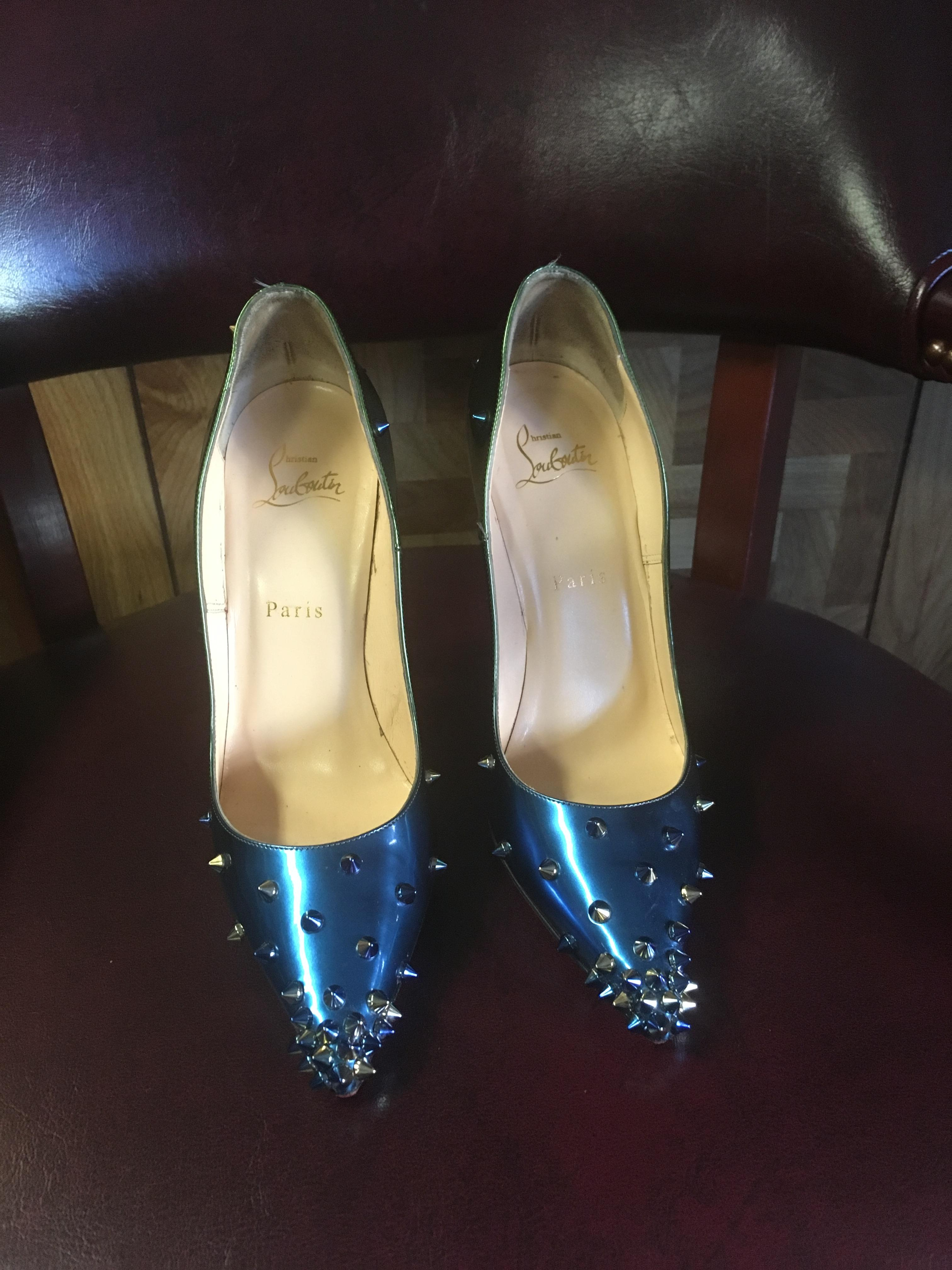 0396839065 Christian Louboutin Multi Color Spiked Spiked Spiked So Kate Pumps Size EU  38 (Approx.