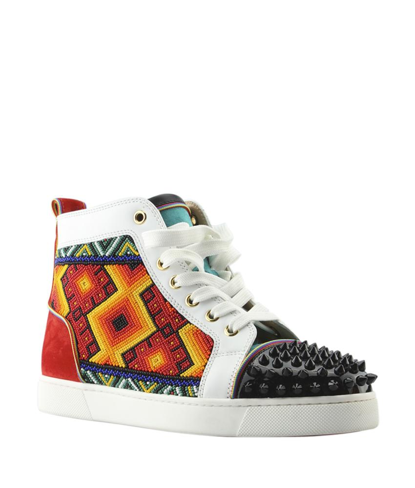 Christian Louboutin Multi-color Tipiho Leather Suede Sneakersx Size6.5 (131134) Boots/Booties Size US 6.5 Regular (M, B)