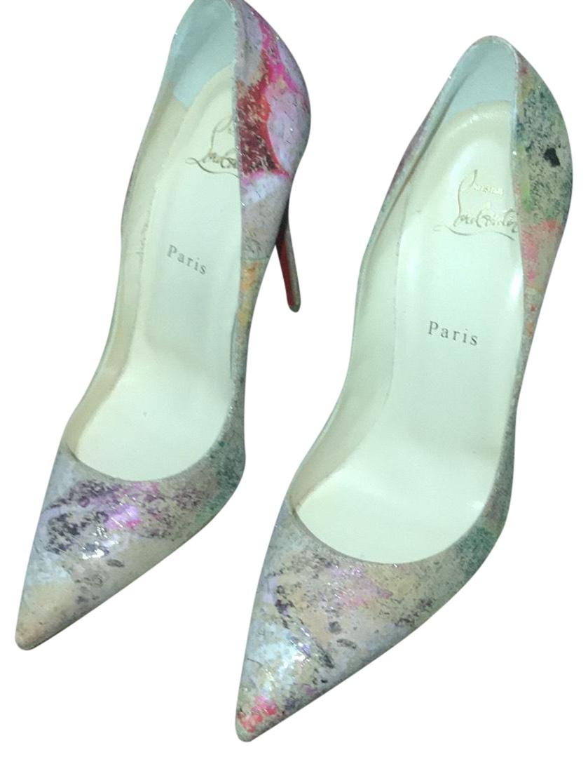 Christian Louboutin Multicolor Blooming Cork Pumps Size US 10 Regular (M, B)