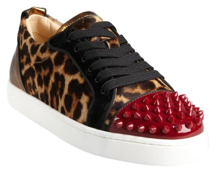 Christian Louboutin Multicolor Leopard Red Sole Sneakers Size US 8 Regular (M, B)