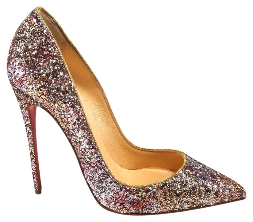 584f45a7623e Christian Louboutin Multicolor New So Kate Glitter Sparkle 120 Party Party  Party Heels 37  510 ...