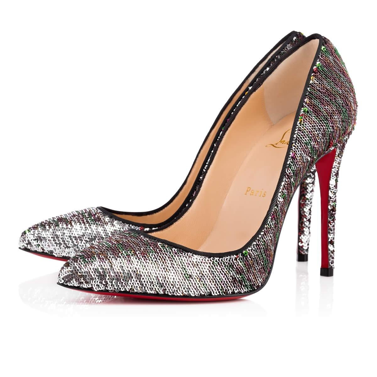 Christian Louboutin Multicolored - Pigalle Follies 100mm Sequined Pumps Size EU 36 (Approx. US 6) Regular (M, B)