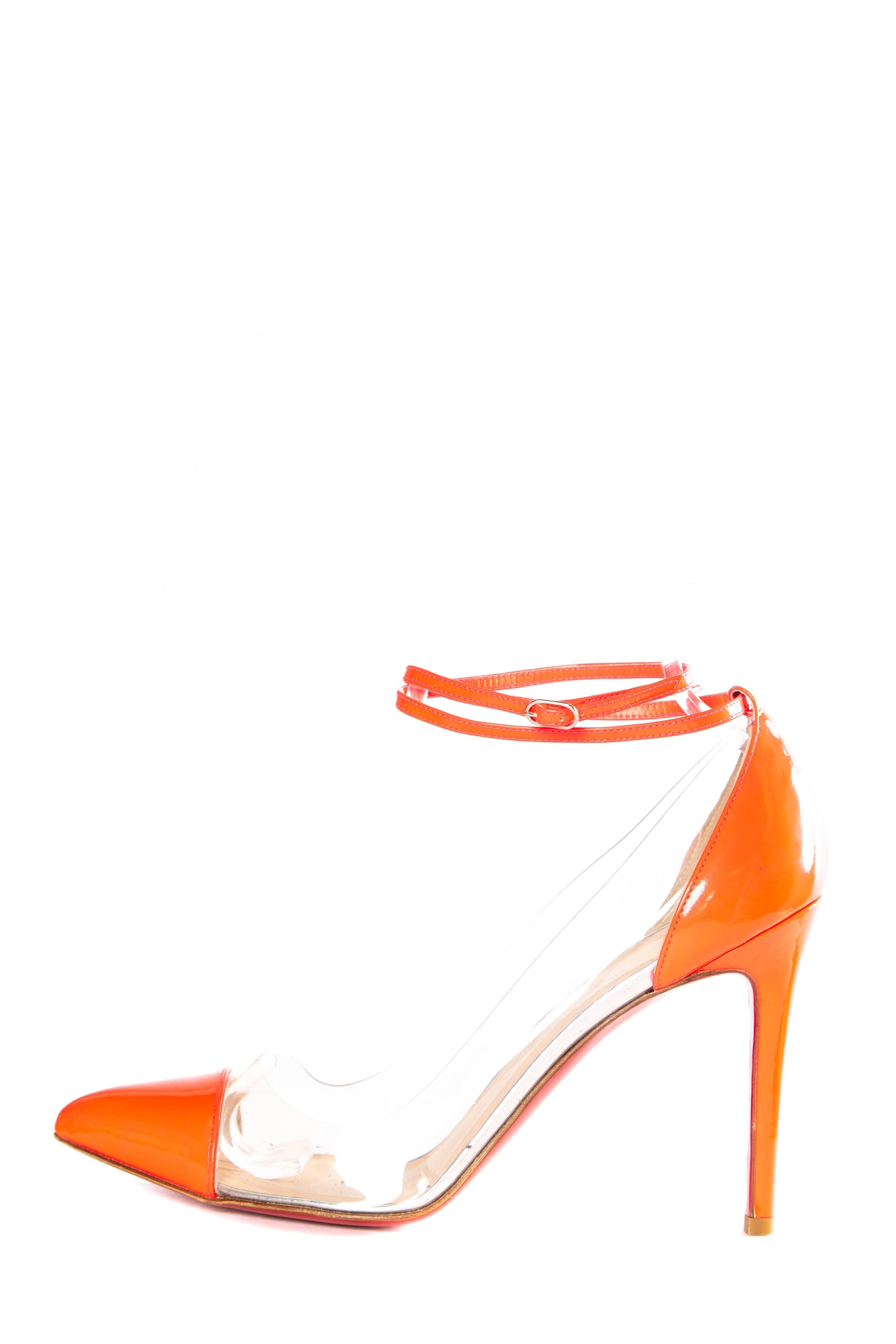 7a9e74d61df ... best christian louboutin neon pink orange sandals f79f8 45a45